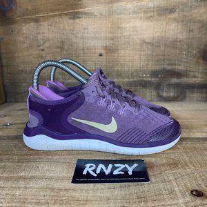 Nike Free RN 2018 Purple White Athletic Sneakers